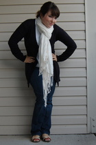 Gap sweater - Fruit of the Loom shirt - unknown brand scarf - American Eagle jea