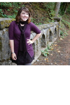 Target sweater - unknown dress - Worthington tights - unknown scarf