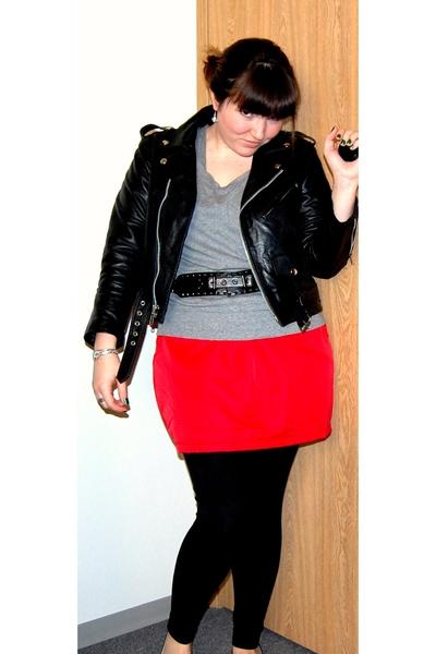 American Apparel skirt - Gap shirt - Target belt - Bona Drag jacket - TJ Maxx pa