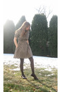 Blue-larry-levine-blazer-beige-h-m-dress-gray-apt-9-tights-brown-pineapple