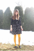 black Robbie Bee dress - black Take out sweater - yellow Gap tights - black Ange
