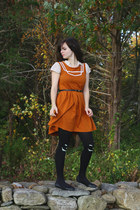 black jack o lantern asos tights - burnt orange Dear Creatures dress