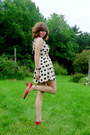 White-polka-dot-forever-21-dress-red-thrifted-heels