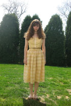 beige Fancy Free dress - brown payless shoes - beige belt - gray Urban Outfitter
