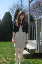 gray Forever 21 dress - blue Forever 21 sweater - white Forever 21 tights - brow