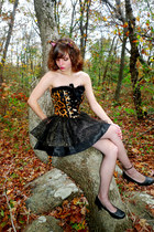 black leopard costume leg avenue dress