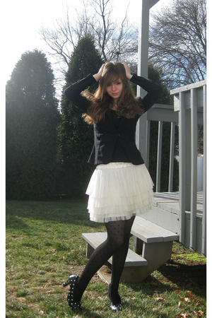 black iz byer california blazer - black jockey shirt - white H&amp;M skirt - black A