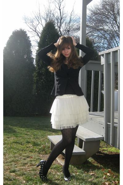 black iz byer california blazer - black jockey shirt - white H&M skirt - black A