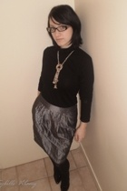 Camaeu sweater - sybille vilany skirt - icone necklace - Laureana shoes