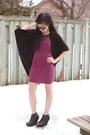 Hot-pink-ub-dress-black-l-b-sunglasses-black-cocoon-cardigan-stitches-cardig