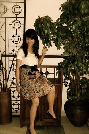 the gap blouse - skirt - H&M belt - H&M shoes
