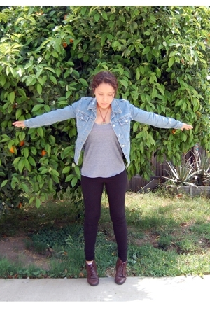 Levis jacket - American Apparel t-shirt - Jaqueline Rose leggings - partners sho