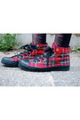Brick-red-vintage-vintage-blazer-ruby-red-tartan-new-look-shoes