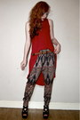 Ruby-red-asymmetrical-internacionale-top-bronze-harem-matalan-pants
