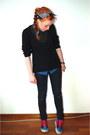 Black-skinny-primark-jeans-black-knitted-sweater-navy-denim-new-look-shirt