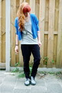 Silver-block-sleeve-vila-top-heather-gray-leather-doc-martens-boots