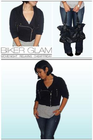blazer - Zara shirt - Guess jeans - accessories