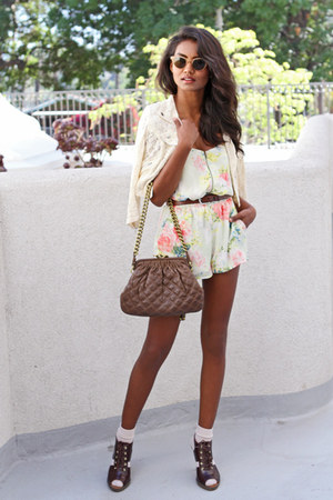 eggshell floral lucca couture romper