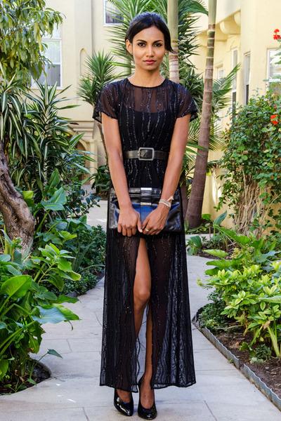 black beaded inlovewithfashion dress