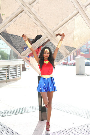 ruby red stars Wonder Woman dress