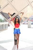 ruby red stars Wonder Woman dress