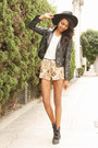 Tan-tapestry-black-swan-clothing-shorts