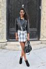 Black-plaid-tfnc-dress