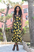 black sunflower Motel Rocks dress