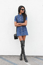 blue vintage Denim Dress dress