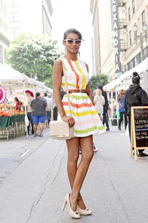 cream candy stripes asos dress