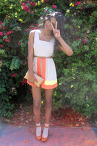 camel asos romper - burnt orange Michael Kors heels