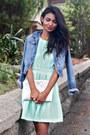 Aquamarine-open-back-tfnc-dress