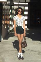 lace ruffles OASAP shorts