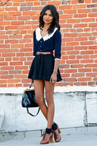 navy crochet Sincerely Sweet Boutique cardigan