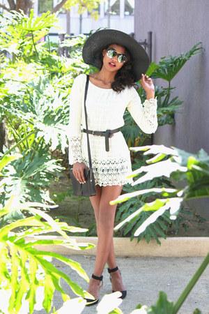 cream crochet Umgee USA dress
