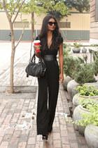black cat eye asos sunglasses - black tuxedo Bebe jumper