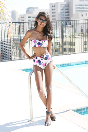 pink floral Seafolly swimwear