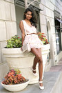 Light-pink-floral-marc-jacobs-dress-eggshell-ankle-strap-marc-jacobs-heels