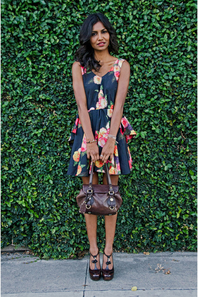 Black Floral Romwe Dress