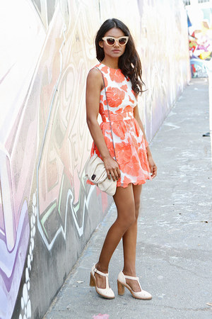 light orange floral asos dress