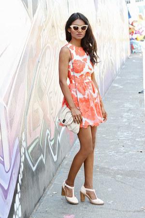 light orange floral asos dress