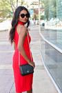 Black-cat-eye-asos-sunglasses-black-strappy-asos-heels