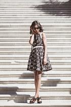 black rayban Eva Franco dress