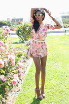 bubble gum floral tuolomeeclothing romper