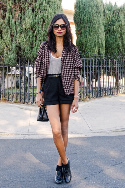 brown houndstooth American Apparel jacket