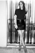 black vintage skirt - beige Ashish for Topshop shoes
