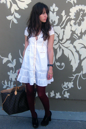 Target dress - DKNY tights - newport-newscom shoes - LV purse