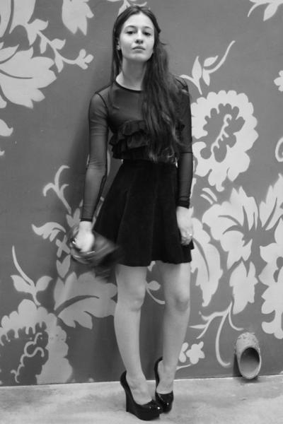 American Apparel dress - Urban Outfitters bra - vintage skirt - Bebe shoes - Mar