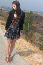 f21 dress - target boys blazer - Nine West shoes - Chanel accessories