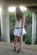 Target sweater - f21 skirt - vintage belt - Nine West shoes
